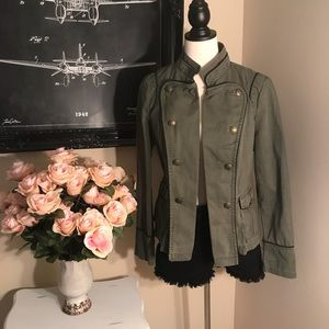 a.n.a Army Green Military Style Jacket